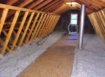 Cellulose insulation provides greater insulation values than fiberglass insulation